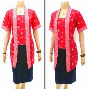 model baju batik kantor ala dian pelangi