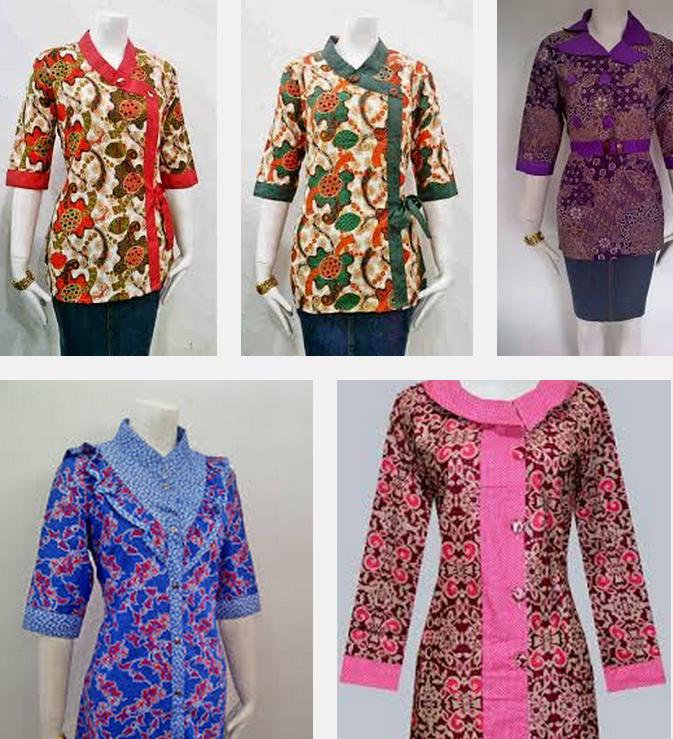 Baju Batik Atasan Wanita Kerja: Model Baju Batik Kantor Wanita