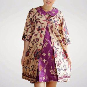 Model Baju Batik Kantor Wanita Gemuk Zommi
